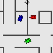 Tanks battle game for 1, 2 or 3 players
