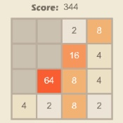 Online game 2048 for 2 players