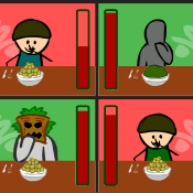 Competitive eating (1,2,3,4 players)